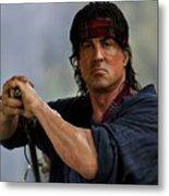 Rambo Sylvester Stallone Metal Print