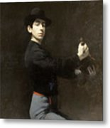 Ramon Casas - Self-portrait  2 Metal Print