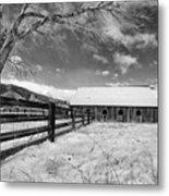 Ranch In Winter Metal Print