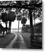 Ranch Life Bw Metal Print