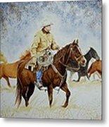 Ranch Rider Metal Print
