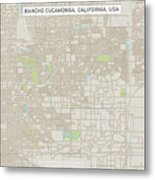 Rancho Cucamonga California Us City Street Map Metal Print