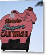 Rancho Super Car Wash  Metal Print