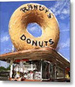 Randy's Donuts Metal Print by Russell Pierce