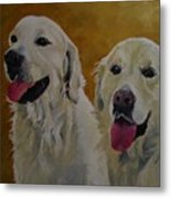 Ranger And Riley Waiting For A Command Metal Print