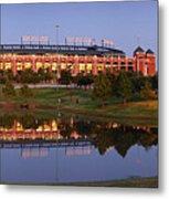 Rangers Ballpark In Arlington At Dusk Metal Print