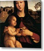 Raphael Madonna And Child C Metal Print