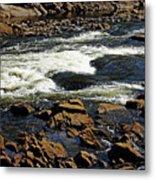Rapids And Rocks Metal Print