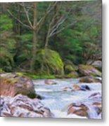 Rapids At The Rivers Bend Metal Print