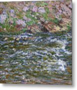 Rapids On The Petite Creuse At Fresselines, 1889 Metal Print