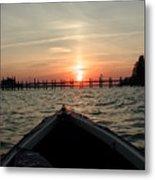Rapphannock Kayak Sunset Metal Print