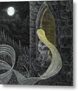 Rapunzel By Night Metal Print