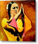 Raquel Heredia - Flamenco Dancer Sold Metal Print