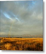 rare Morning Rainbow Metal Print