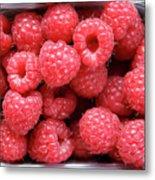 Rasberries Market Bergen Metal Print