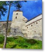 Rasnov Fortress Metal Print