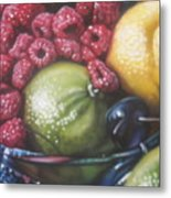 Raspberry Lime Metal Print