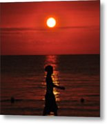 Rastaman Sunset Metal Print