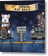 Rat Race Metal Print
