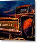 Rat Rod Chevy Truck Metal Print