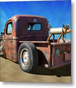 Rat Truck On Beach 2 Metal Print