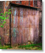 Rats Castle Farm Barn Door Metal Print