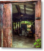 Rats Castle Farm Machinery Shed Metal Print