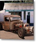 Raunchy Rat Rod Pickup Metal Print