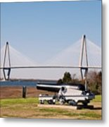 Ravanel Bridge From The Patriot Point Metal Print