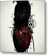 Raven And Heart Grenade Metal Print