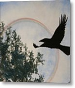 Raven Holds The Sun Metal Print