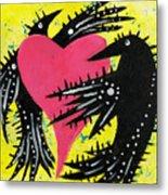 Raven Love Metal Print