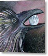 Raven Moon Metal Print by Amy Reisland-Speer