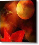Raven Moon And Poppy 2 Metal Print