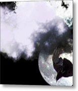 Raven Moon Metal Print