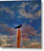 Raven Pole Metal Print