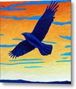 Raven Rising Metal Print