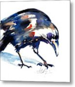 Raven Shadow From Vancouver Metal Print