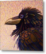 Raven Shaman Metal Print by Brian  Commerford