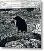Raven Spirit Metal Print