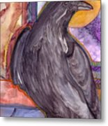 Raven Steals Sunlight Metal Print