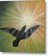 Raven Steals The Light Metal Print by Bernadette Wulf