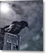 Raven Twilight Metal Print