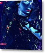 Raven Woman Metal Print