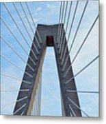 Ravenel Bridge Charleston Metal Print
