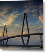 Ravenel Bridge Sunset Metal Print