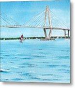 Ravenel Bridge Metal Print