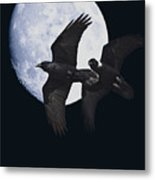 Ravens Of The Night Metal Print by Wingsdomain Art and Photography