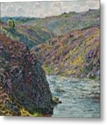 Ravines Of The Creuse At The End Of The Day Metal Print