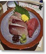 Raw Fish Sashimi Plate - Kyoto Japan Metal Print